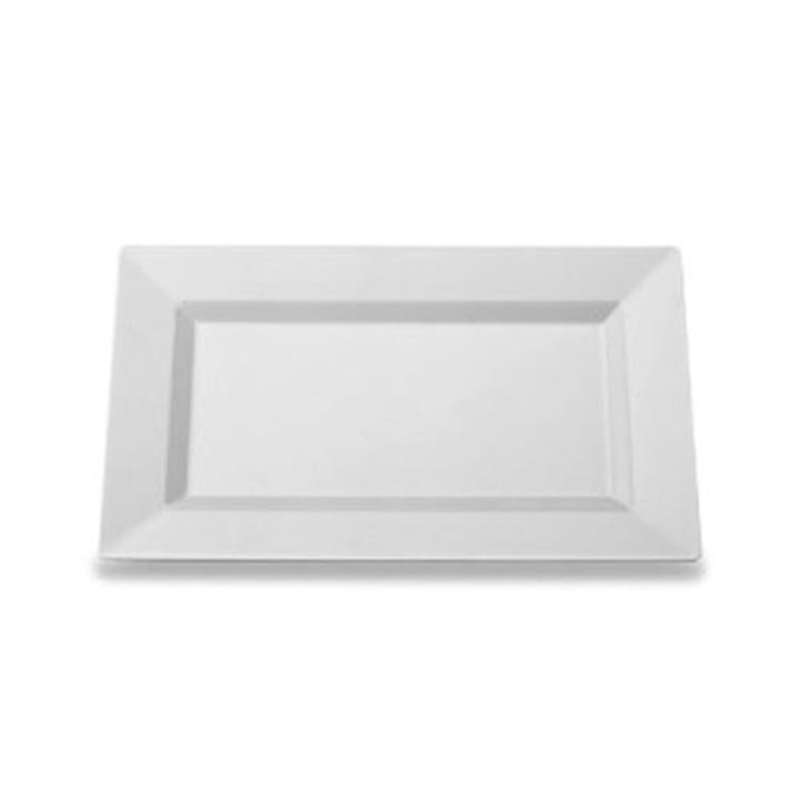 ... your guests to culinary presentation they have never seen! Dimensions 7.5\  x 5.5\ . The price of these clear plastic rectangular plates is just $3.99.  sc 1 st  Factory Direct Party & Rectangular Plates | Clear Plastic Rectangular Plates Disposable