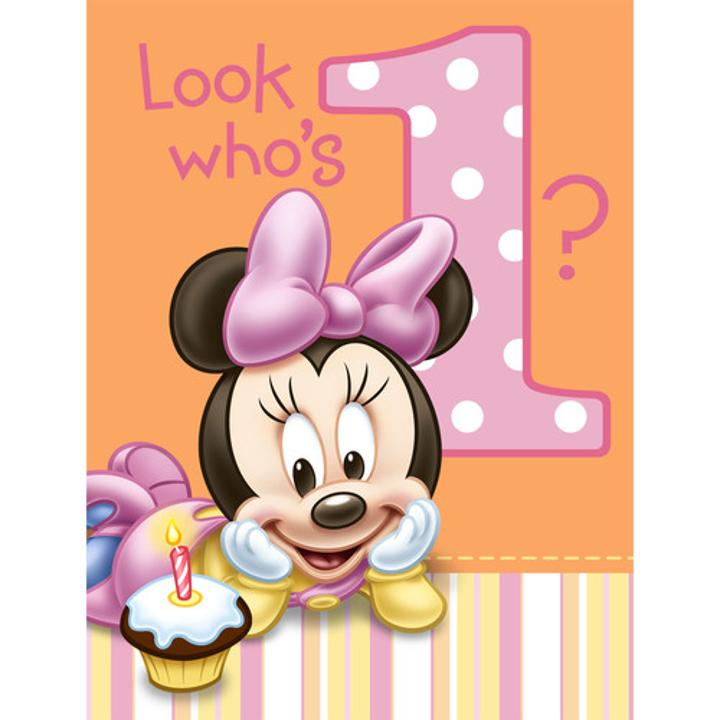 Minnie Mouse St Birthday Party Invitations Are The Perfect Way To Get The Minnies St Birthday Party Kicked Off Each Package Contains  Minnie Mouse St