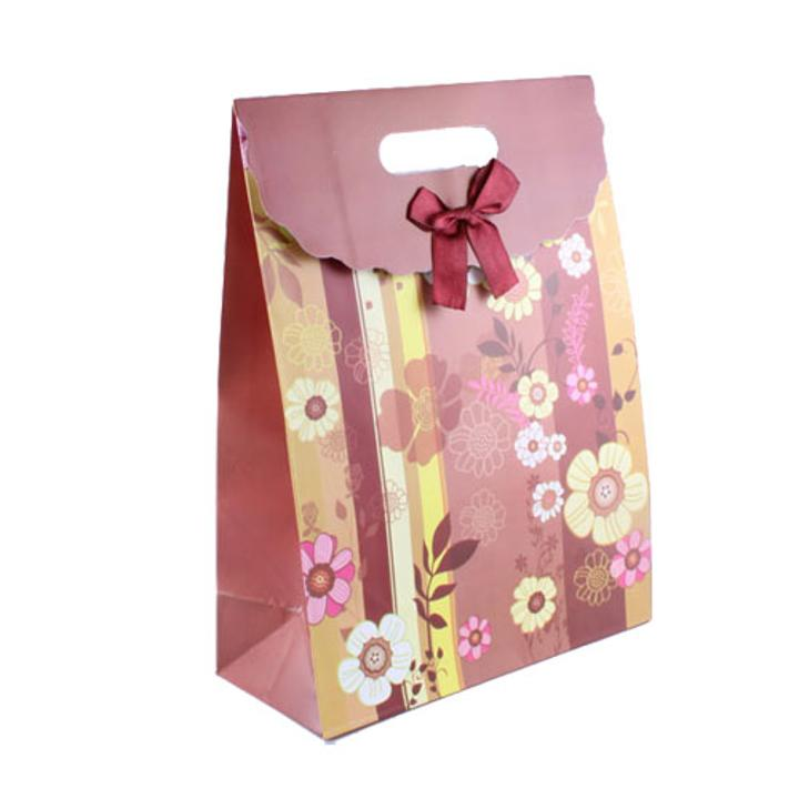 Medium Flower Printed Gift Bag