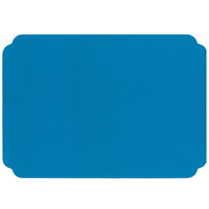 Turquoise Round Edge Paper Placemats 10