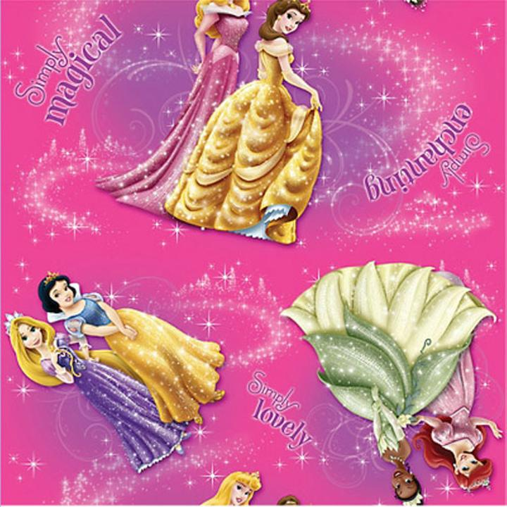 disney princesses on pink paper with a sparkly touch tie it closed with any of our stunning pull string bows not included and curling ribbons