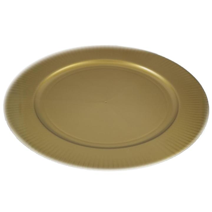 Rigid Gold Charger Plate  sc 1 st  Factory Direct Party & Large round gold plastic charger plates