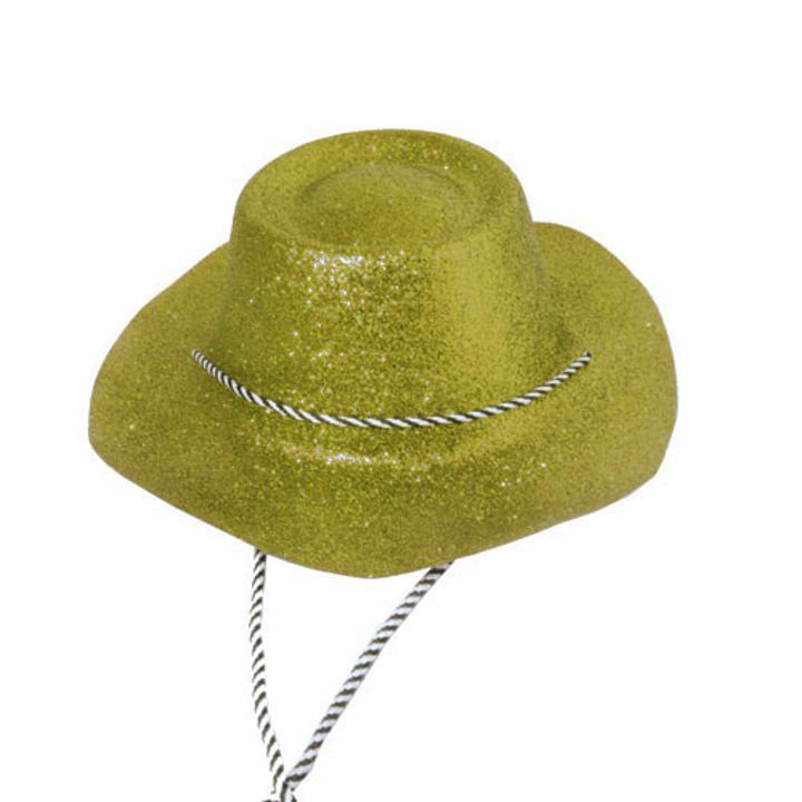 f1030c9003509 Gold Glitter Cowboy Hat