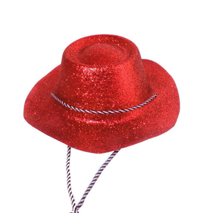 Red Glitter Cowboy Hat 93ea7d5eafe