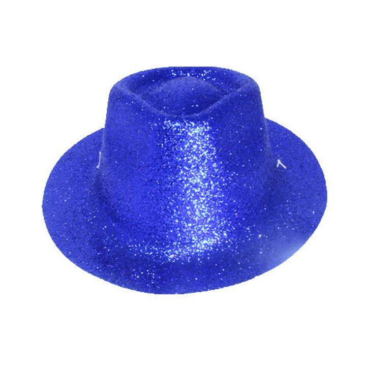Mini Blue Glitter Kid s Fedora Hat 58658174912