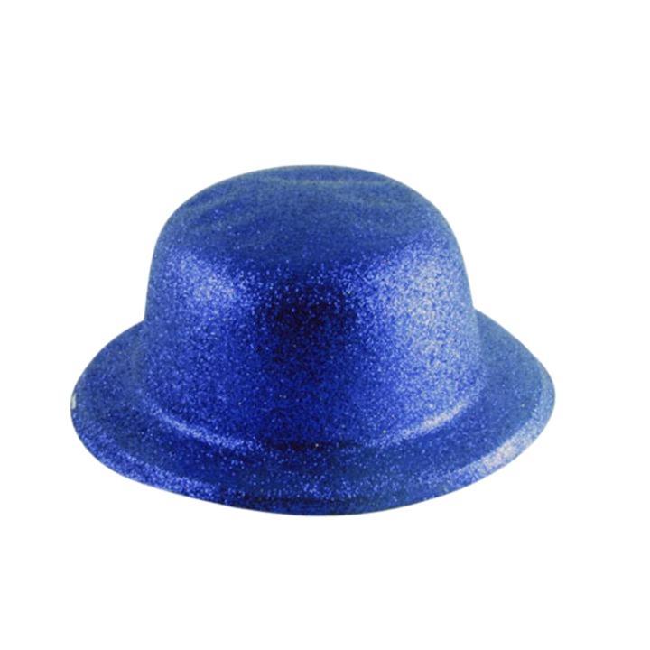 6867b81ff8c3d Silver Glitter Bowler Hat