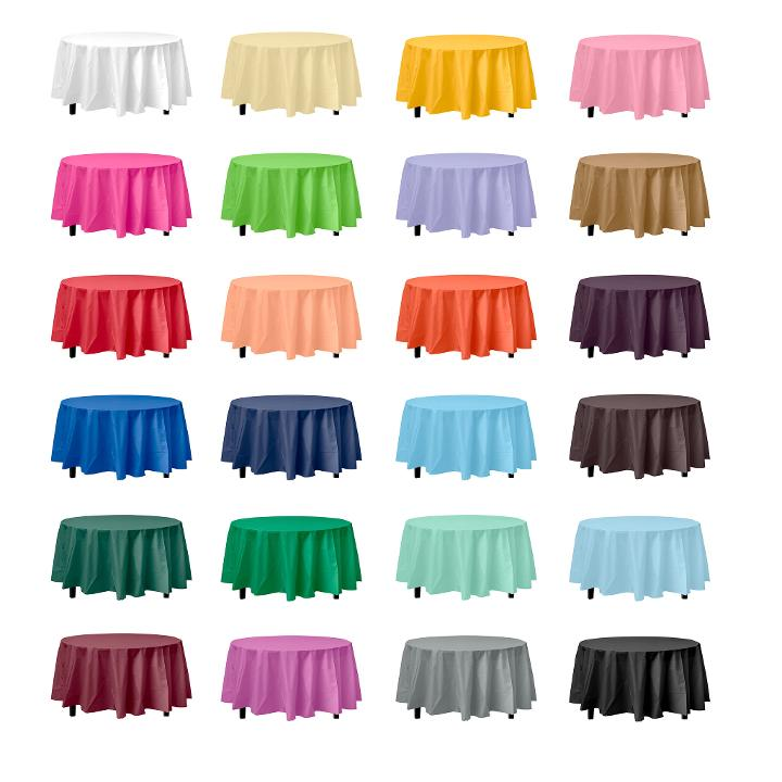 Round Disposable Tablecloths