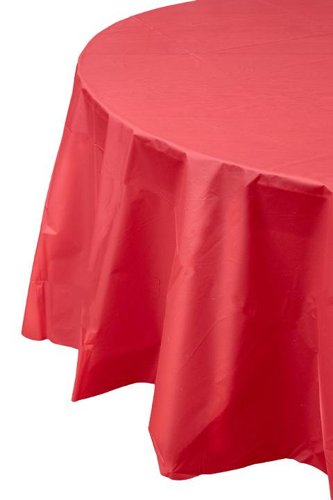 225 & Premium Round Red Table Cover