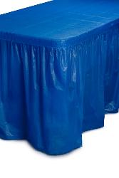 Dark Blue Plastic Table Skirt