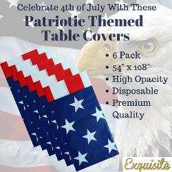 American Flag Tablecloth - 6 pack