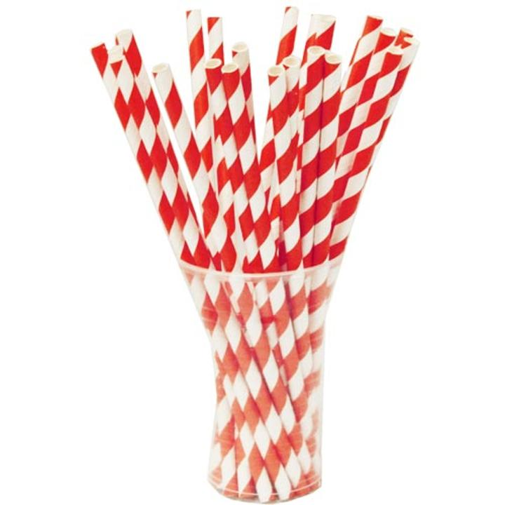Red Striped Paper Straws (25)  sc 1 st  Factory Direct Party & Red and White Striped Straws | Red and White Paper Straws