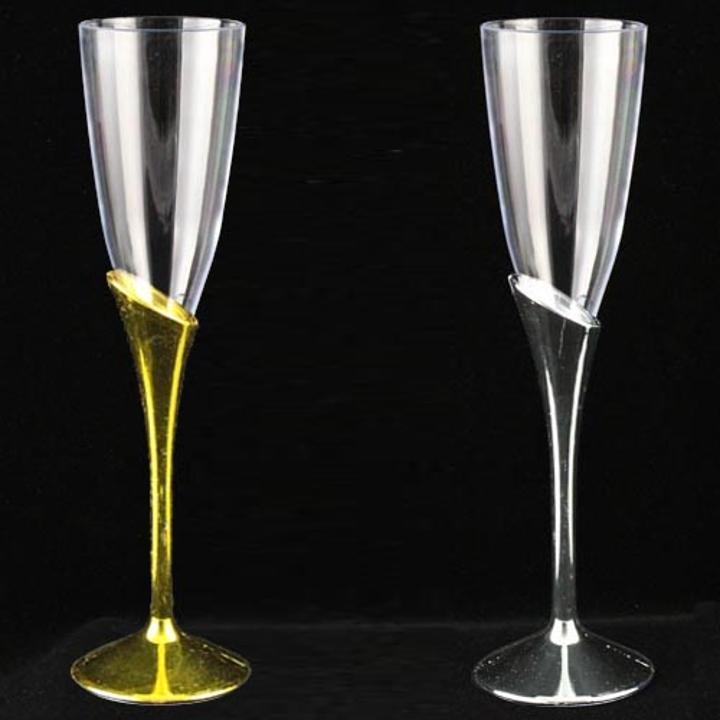 6 Oz Plastic Toasting Flutes