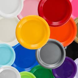 Plastic Plates & Colorful Dinnerware Sets   Solid Color Dinnerware Sets