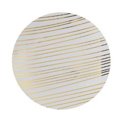 8 In. Glam Design Plastic Plates - 10 Ct.
