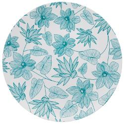 10 In. Bella Design Plastic Plates - 10 Ct.