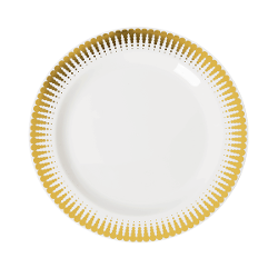 Radial Design Plates -10 Ct.  sc 1 st  Factory Direct Party & Elegant Disposable Dinnerware - Fancy Disposable Plates u0026 Bowls