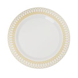Ovals Design Plates - 10 Ct.  sc 1 st  Factory Direct Party & Elegant Disposable Dinnerware - Fancy Disposable Plates u0026 Bowls