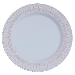 10.25 In. Rose Gold Ovals Design Plates - 10 Ct.