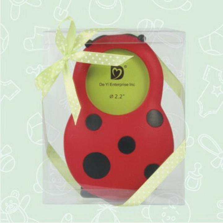 Red Ladybug Picture Frame Favor
