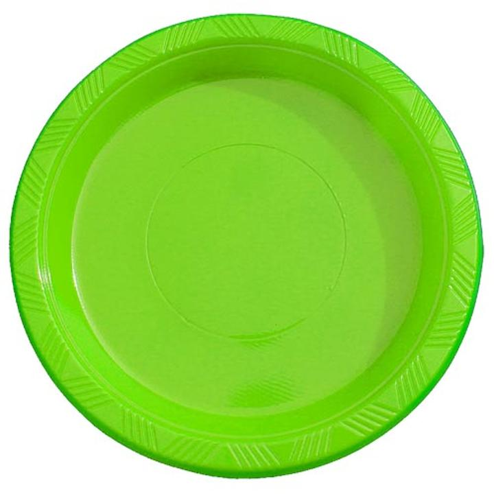 Lime Green plastic plates (50)  sc 1 st  Factory Direct Party & Disposable Plastic Plates | Plastic Party Plates Cheap in Bulk