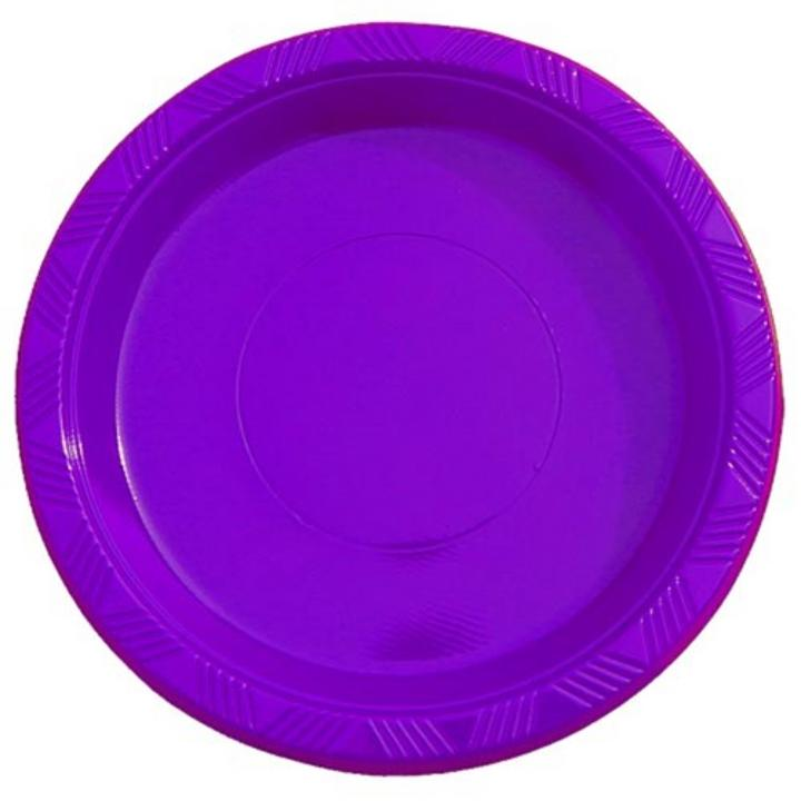 9  high quality plastic plates; Round dinner plates  sc 1 st  Factory Direct Party : purple dinner plates - pezcame.com