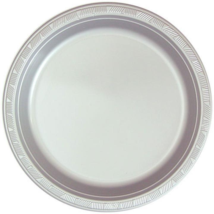 Silver plastic plates (15)  sc 1 st  Factory Direct Party & Silver Plastic Plates | Silver Party Plates in Bulk