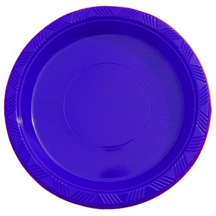 Dark Blue plastic plates (15)  sc 1 st  Factory Direct Party & 7\