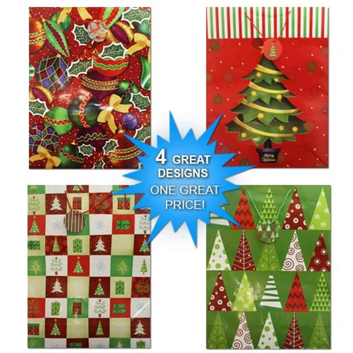 make sure to keep plenty of these bags on hand during the holiday season pack includes 4 super giant gift bags dimensions 29x1975x15
