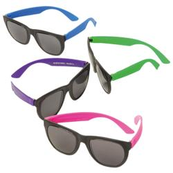 Neon Rubber Toy Sunglasses - 12 Ct.
