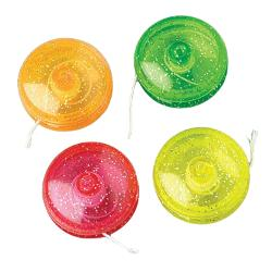 Mini Glitter Yo-Yos - 12 Ct.