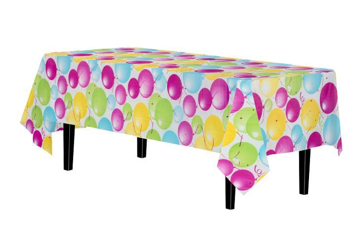 Balloon Print Plastic Table Cover